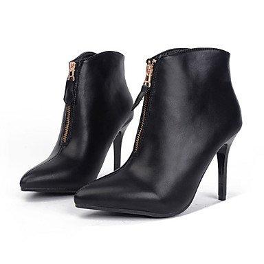 RTRY Women's Shoes Leatherette Spring Fall Winter Basic Pump Comfort Novelty Boots Stiletto Heel Zipper For Wedding Casual Office & Career US8 / EU39 / UK6 / CN39 oQ6Ga0399