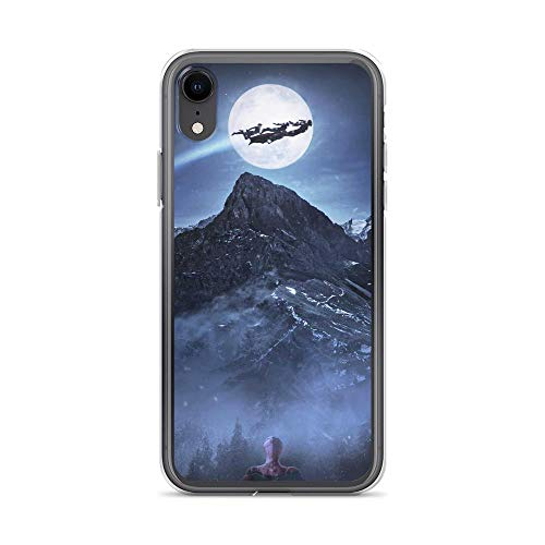 iPhone XR Pure Anti-Shock Case Christmas Spiderman Looking Captain Carol Denvers Iron-Man Falcon Thor Flying Stan Lee Movie Shield Avengerss Comic Superhero -