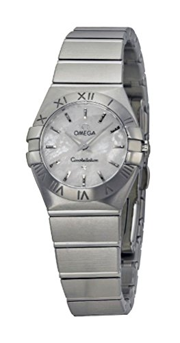Omega Constellation Stainless Steel Quartz Womens Watch Mother-of-Pearl Dial 123.10.24.60.05.001
