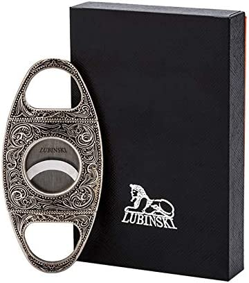 LUBINSKI Sharp Blade Cigar Cutter with Stainless Steel Doubl