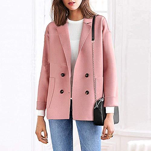 Outwear Casual Rose Jacket poche 3xl Bouton Zhrui Taille Casual solide avec Plus Chemise Lâche Parkas Vêtements Ladies Bouton d'extérieur Size Couleur 5xUUwqXgA