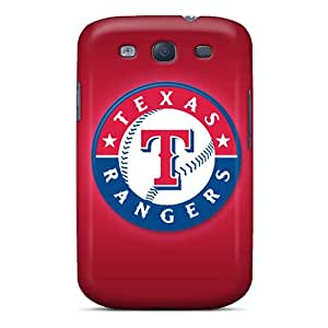 Shock Absorbent Hard Phone Case For Samsung Galaxy S3 (izv12390HWEH) Support Personal Customs HD Texas Rangers Pictures