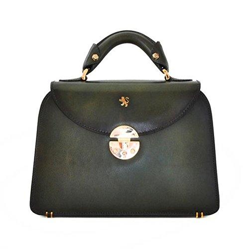 Pratesi Veneziano pequeño Bolsa - S285/P Santa Croce (Verde oscuro) Verde oscuro