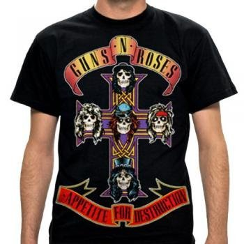 Guns N Roses- Appetite For Destruction Jumbo T-Shirt Size -