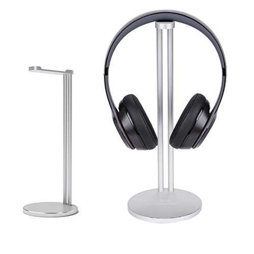 Headphone Stand , CASEKING headphone bracket for Bose, Beats, Sony, Philips, Skull Candy, Plantronics, JVC, Gaming, and DJ etc.. Universal compatibility with all headphones(Argent)