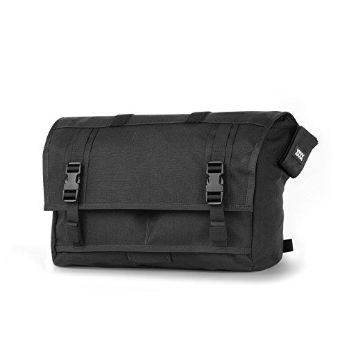 Mission Workshop Monty 21L (1,300 cu.in.) Waterproof Rolltop Messenger Bag, Black
