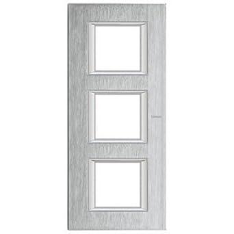 Placa 2+2+2 m/ódulos vertical whice Bticino axolute