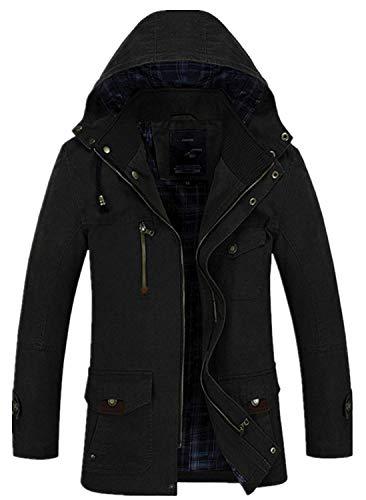 Cappotto Autunno Coat Essenziale Schwarz Trechcoat Invernale Uomo Giacca Elegante Parka Trench Da zUpSGVqM