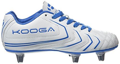 Kooga Jungen Warrior 2 Junior Rugbyschuhe White (White/Blue)
