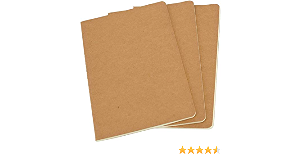 3 Pack Set Blank Notebook Journal 5.5 x 3.5 Memo Notebook fit for Field Notes Genuine Leather Cover