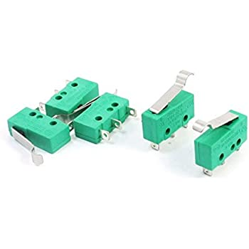 PODOY 5 Pack KW4 3Z 3 Micro Limit Switch AC 125V 5A Hinge Lever for Mill CNC