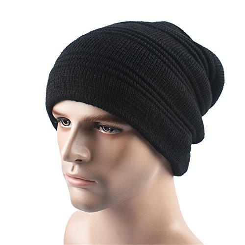 negro Deportes BaronHong Cap Beanie sombrero unisex terciopelo Slouchy Skully caliente Outdor gBzvgq