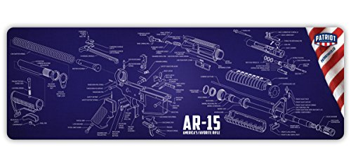Patriot Patch Co - M4 Cleaning Mat - Large AR15 Exploded View Cleaning Mat by Patriot Patch Company
