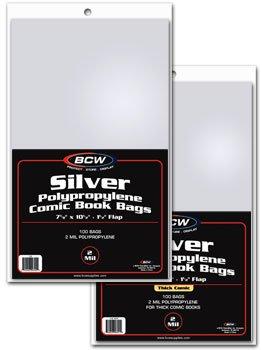 Silver Comic Bags - 4