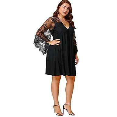 Amazon.com: Vestidos Tallas Grandes Plus Size Cortos de ...