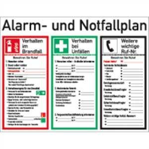 Schild PVC Alarm  und Notfallplan ISO 7010 48x62 cm: Amazon.de