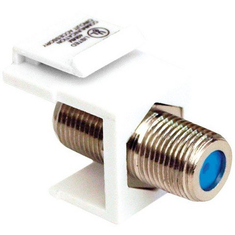 Datacomm Electronics 20-3202-Wh Keystone Jack With 2.4Ghz F Connector ()