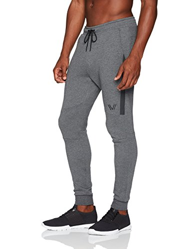 Peak Velocity Men's Metro Fleece Jogger Sweatpant, Dark Grey Heather, Large