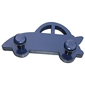 Kids Blue Car Shape Wall Hook,Wall Mounted 2 Hooks to Hang Kids Bags,Clothes,Decorative Clothes Hanger ,Kids Room Wall…