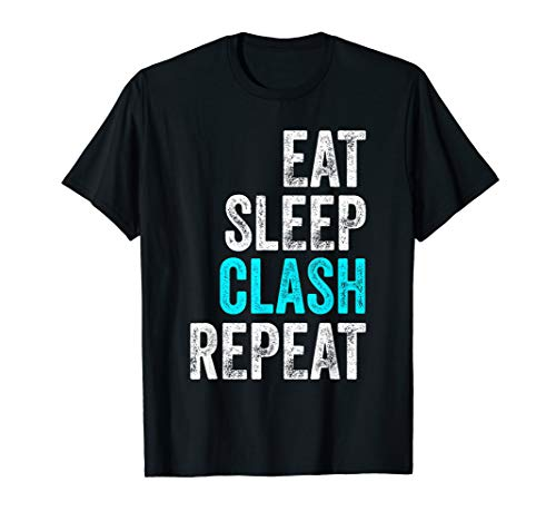 Mens Gaming Clan - Eat Sleep Clash Repeat Vintage T-Shirt
