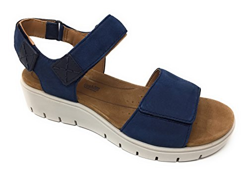 CLARKS Women's Un Karely Bay Navy Nubuck 7 B US