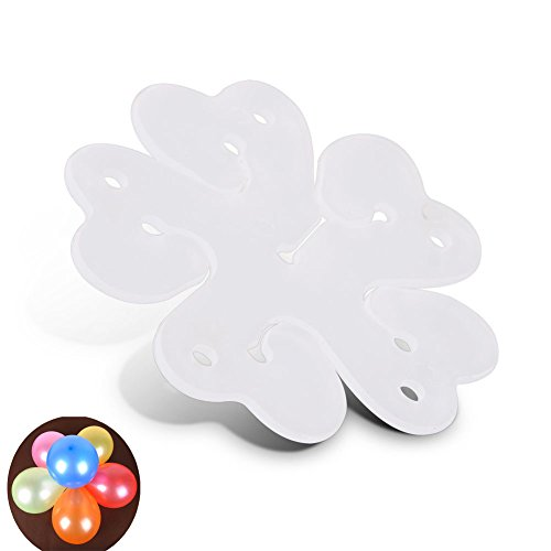 yueton Pack of 50 Portable Flower Shape Balloon Clips Holder for Wedding Event Decorations Birthday Party Supplies -