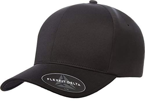 Flexfit Men's Seamless Fitted Flexfit Delta Cap, Black, Large/Extra -