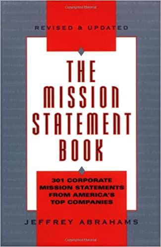 Amazon The Mission Statement Book 301 Corporate Mission