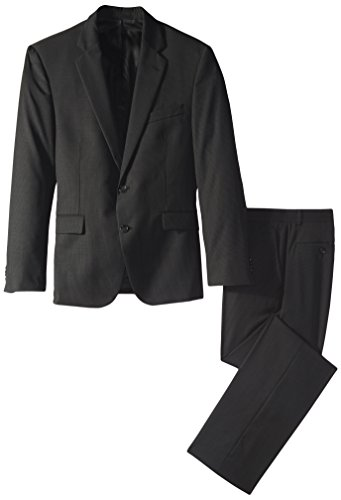 Kenneth Cole New York Men's Slim Fit 2 Button Suit, Black Striped, 44 ()
