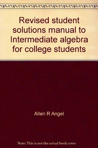 Revised Student's Solutions Manual