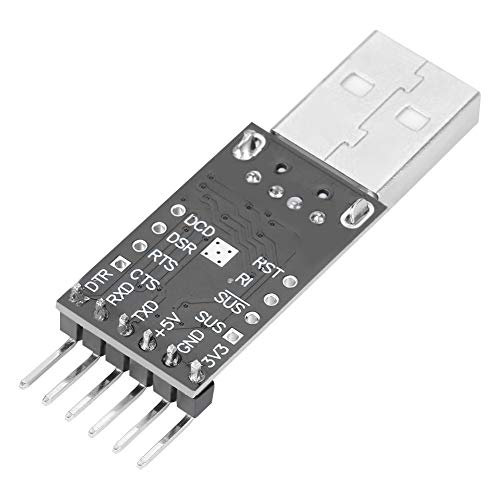 Loopback Serial Connector (Wal front USB to TTL Adatper Serial Converter CP2102 UART Module Serial Converter STC Downloader for Development Projects)