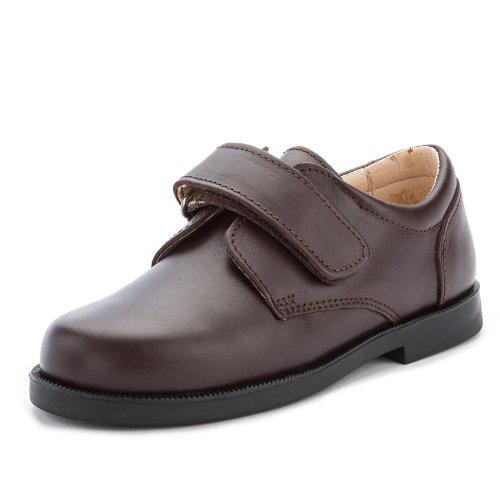 d744ca0878c Zapato Colegial Escolares Niño Velcro - Color : Marron - Talla : 40:  Amazon.es: Zapatos y complementos