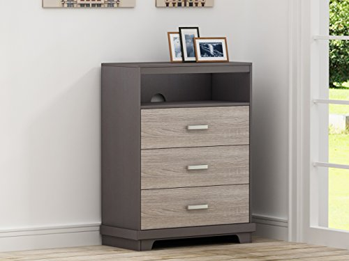 Homestar Albany Chest with 3 drawers in Java Brown/ Sonoma Finish ()