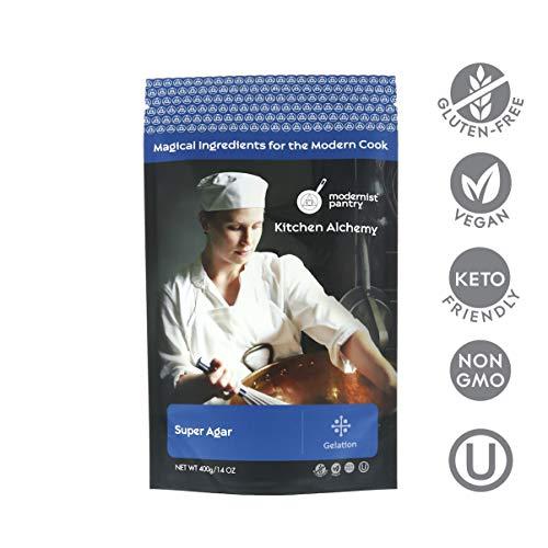Pure Super Agar Powder - High Gel Strength Gracilaria Algae ? Non-GMO ? Vegan ? OU Kosher Certified - 400g/14oz