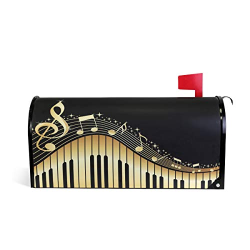 WOOR Music Notes with Piano Mailbox Cover Standard Size-18