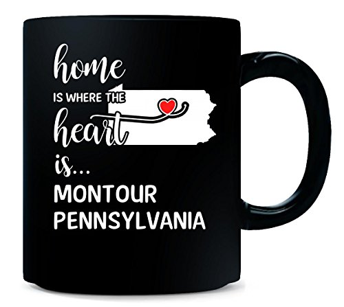 - Montour County Pennsylvania Is Where My Heart Is Gift - Mug