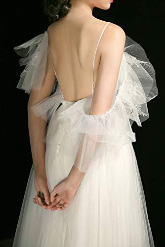 Bianco Avorio fata sposa sposa bretelle da super abito WFL da sistema Sen femminile abito sposa backless dZSq6w