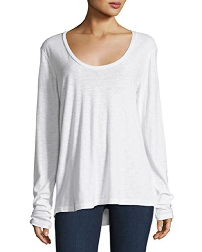 James Perse Womens Solid T-Shirt, 2, - James Perse Jersey Cotton