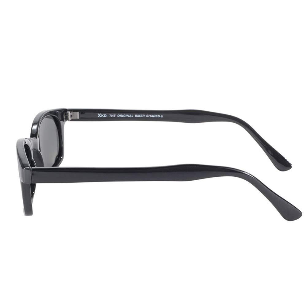Original X-KDs 20% Larger Polarized Lenses Black Frame Biker Sunglasses