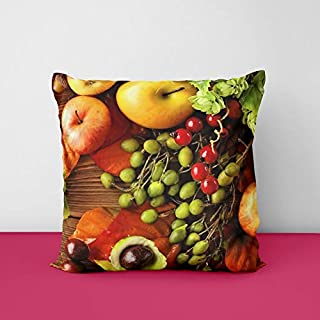 41I3G8hActL. SS320 Fruits Wood Square Design Printed Cushion Cover