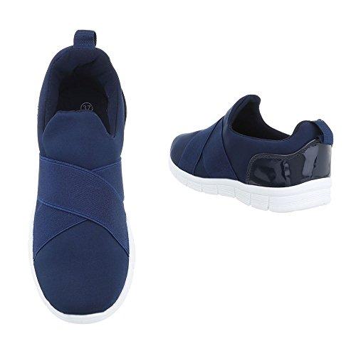 Ital-Design - Tobillo bajo Mujer azul oscuro