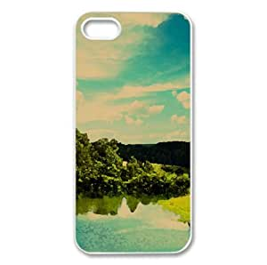 In Nature Watercolor style Cover iPhone 5 and 5S Case (Landscape Watercolor style Cover iPhone 5 and 5S Case)