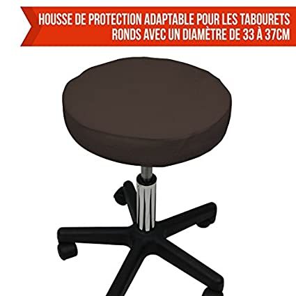 10 coloris Norme CE Vivezen /® Drap housse de protection en /éponge pour tabouret rond