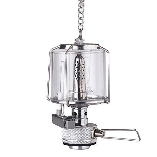 Docooler® Mini Portable Camping Lantern Gas Light Tent Lamp Torch Hanging  Glass Lamp Chimney Butane 80LUX