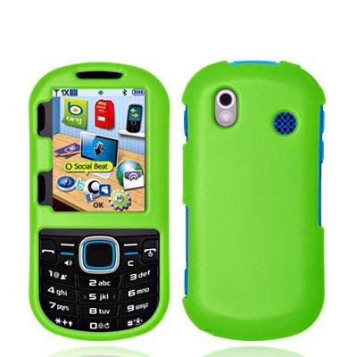 - Neon Green Rubberized Snap-On Hard Skin Case Cover for Samsung Intensity 2 II U460 Phone