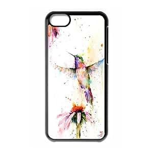 {Hummingbird Series} IPhone 5C Case HUMMINGBIRD Decorative, Case Nuktoe - Black
