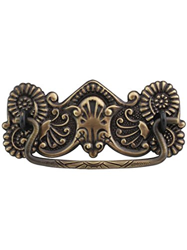 Oak Drawer Pull (Brass American-Oak Drawer Pull in Antique-By-Hand - 3