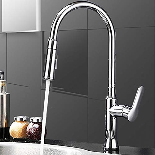 (Giow Basin Tap High-end Creative Desktop Waterfall Basin Faucet, 360°C Rotating Chrome White Brass Fittings, Hot and Cold Water Hose Mixer Single Handle Single Hole Installation, Modern)