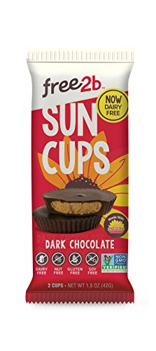 Sun Cups Candy, Dark Chocolate, 1.5 Ounce (Pack of 12)