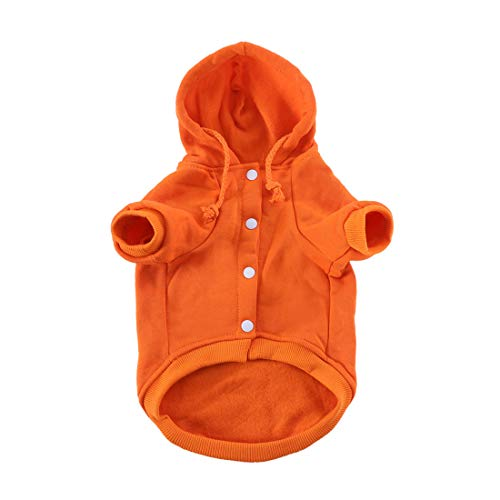 uxcell Pet Dog Hooded Hoody Sweatshirt Clothes Polyester Basic Apparel Puppy Cat Winter/Spring/Fall Costume Outfits…